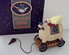 "WILLIRAYE STUDIO WW1429 SHEEP Pull Toy GOOSE & BIRD ""Making Friends"" CERTIFICATE"