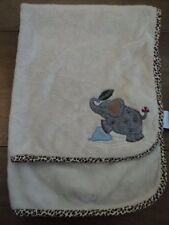Lambs & And Ivy Circus Elephant Soft Fleece Baby Blanket - Vguc