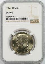 1977-D 50C NGC MS 66 Kennedy Half Dollar