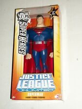 "Mattel DC Superheroes SUPERMAN Justice League Unlimited 10"" Figure MISB"