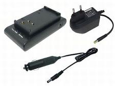 Caricabatteria + AUTO CAVO PER Hitachi vm-2100a vm-210e vm-3000a vm-3150