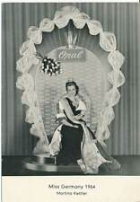 603367) Autografo scheda Miss Germany 1964 M. KETTLER