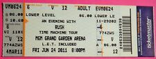 Rush Time Machine Tour Original Concert Used Ticket, Mgm Vegas, June 24 2011