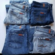 7 For All Mankind Size 26 Women's Jeans 4 Pair Distressed Bootcut A Pocket