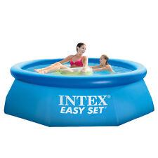 Intex Piscina fuoriterra anello gonfiabile 244x76cm tonda + pompa filtro 28112NP