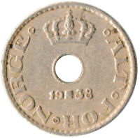 COIN / NORWAY / 10 ORE 1938  #WT3997