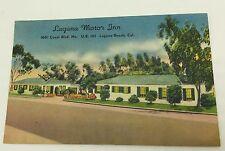 Laguna Motor Inn Postcard 1940s Southern California Beach US 101 Colourpicture