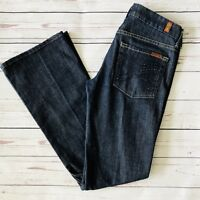 7 for All Mankind A Pocket Womens Jeans Bling Pockets Size 27 Dark Wash 29x32