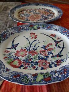 lot=belles assiettes grandes décorées  présentation tapas ,entrées ,poisson etc