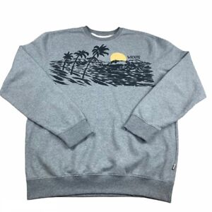 VANS grey jumper Skater Style with sunset strip print Size Extra Large