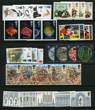 GB GREAT BRITAIN 1989 Commemorative Year, 8 sets Mint NH