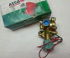 "8316G76 ASCO SOLENOID NO VALVE AIR GAS WATER 10-150 PSI 3/4"" RED HAT  NOS"