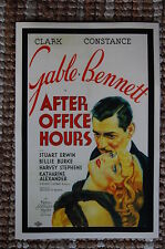After Office Hours Lobby Card Movie Poster Clark Gable Constance Bennett