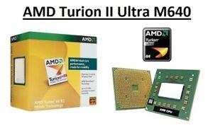 AMD Turion II Ultra M640 Dual Core Processor 2.6 GHz, Socket S1, 35W CPU