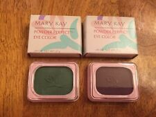 Lot 2 Mary Kay Powder Perfect Eye Color Shadow - Dusk - Leaf - New in Box RARE!!