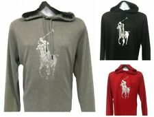 Polo Ralph Lauren Men's Performance Big Pony Hooded Jersey T-Shirt Tee