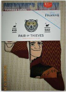 Pair of Thieves Disney Frozen 2 Dad+Kid twinsies socks men's 8-12 Kids 18M-3 Yrs