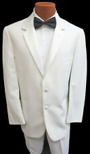 Men's Platinum Formals White Tuxedo Jacket with Pants Prom Mason Wedding 38S 29W