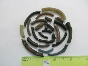 Ancient fragments of glass bracelets Vikings, Kievan Rus 10-13 AD №735/9