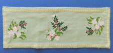 Beautiful Vintage Handmade Embroidered  Table Runner Flowers