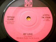 "PETULA CLARK-MY LOVE 7"" vinyle"