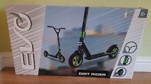 Evo Dirt Rider Scooter. Kids Scooters Ride On Boys & Girls Xmas BNIB Green Black