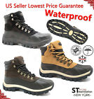 LM Men's Winter Snow Insulated Warm Boots Work Boots Leather Waterproof 2017