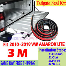 TAILGATE SEAL KIT FOR VOLKSWAGEN VW AMAROK HOLDEN COLORADO RUBBER DUST TAIL GATE