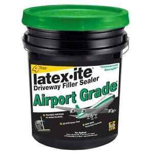Airport Grade Asphalt Driveway Filler Sealer 4.75 Gal. Cracks Patch Repair