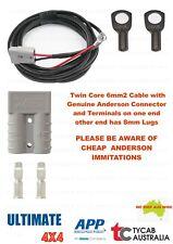 5m Twin Core 6mm2 Cable Genuine Anderson 8mm Lug Caravan, Camping, Fridge Ext
