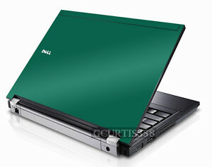 GREEN Vinyl Lid Skin Cover Decal fits Dell Latitude E6500 Laptop