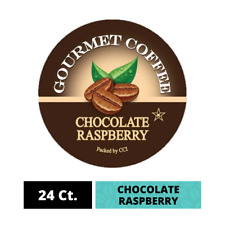 Chocolate Raspberry Coffee Pods, 24 Ct Single Serve K Cups for Keurig Brewers