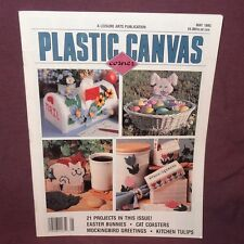 Plastic Canvas Corner Magazine May 1995 21 Designs Easter Bunnies Cat Coasters