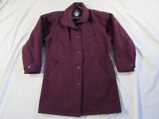 Vtg USA Made Womens Woolrich Woman Purple Wool Coat Sz Large 80s 90s Overcoat