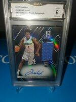 GMA 9 MINT ~JOHNATHAN Isaac 2017-18  Spectra Refractor RC AUTO JERSEY 49/299🔥🏀