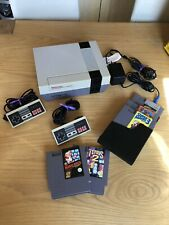 Retro Gaming - Nintendo NES Console with 2 Controllers And 5 Games