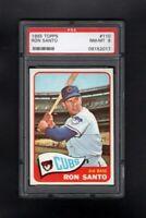1965 TOPPS #110 RON SANTO HOF CHICAGO CUBS PSA 8 NM/MT SHARP CARD!
