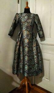 vintage dress pattern size 16 turquoise ball room regal Royal