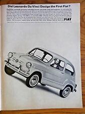 1965 Fiat 600D Coupe Ad Did Leonardo Da Vinci Design the 1st Fiat?