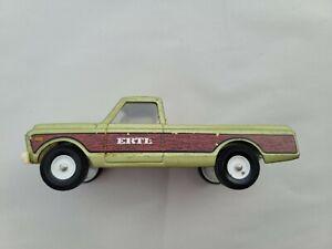 Vintage ERTL Die-Cast Metal GMC Pick-Up Truck. Wood panel/side. Hard to find.
