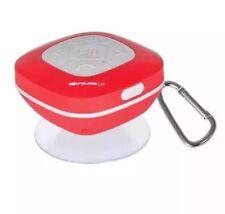 SOUNDLOGIC Wireless-Bluetooth-Waterproof-Shower Speaker-FM Radio ipod-ipad RED