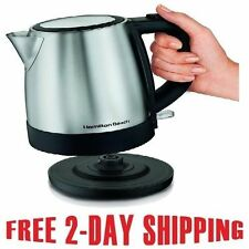 Stainless Electric Kitchen Kettle Pot Hot Water Tea Quick Boil Hamilton BeachNEW