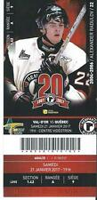 QMJHL Ticket - Quebec Remparts 20th Anniversary ALEXANDER RADULOV