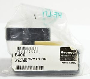 "Avenger E400 5/8"" female - female double pin connector. NOS discontinued item"