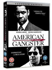 American Gangster 2008 Extended Edition, Denzel Washington NEW UK R2 DVD