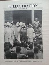 L' ILLUSTRATION 1908 N 3395  COURONNEMENT D'UN ROI NEGRE : ADJIKI, FILS DE TOFFA