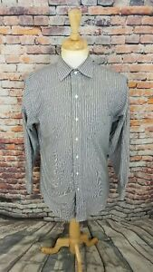 $69.50 Brooks Brothers 346 Grey NON IRON SLIM FIT Button Up Dress Shirt 15 2/3