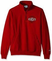 NEW Champion NCAA Cincinnati Bearcats Men's Fleece 1/4 Zip Pullover Red Size XL
