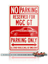 MG MGC GT Coupe Reserved Parking SIgn 12x18 Aluminum Sign - British Car