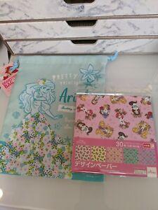 Disney Princess Origami Paper and Drawstring Bag